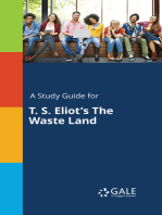A Study Guide for T. S. Eliot's The Waste Land