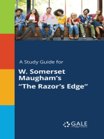 """A Study Guide for W. Somerset Maugham's """"The Razor's Edge"""""""