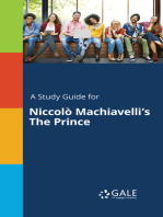 A Study Guide for Niccolò Machiavelli's The Prince