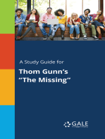 "A Study Guide for Thom Gunn's ""The Missing"""