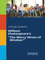 """A Study Guide for William Shakespeare's """"The Merry Wives of Windsor"""""""