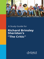 """A Study Guide for Richard Brinsley Sheridan's """"The Critic"""""""