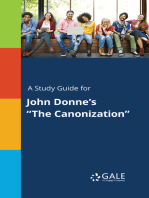 """A Study Guide for John Donne's """"The Canonization"""""""