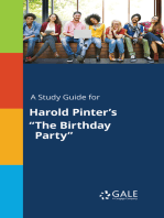 """A Study Guide for Harold Pinter's """"The Birthday Party"""""""