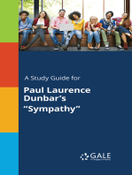 """A Study Guide for Paul Laurence Dunbar's """"Sympathy"""""""