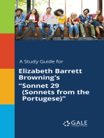"""A Study Guide for Elizabeth Barrett Browning's """"Sonnet 29 (Sonnets from the Portugese)"""""""