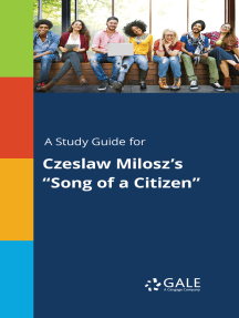 "A Study Guide for Czeslaw Milosz's ""Song of a Citizen"""