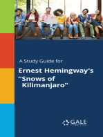 """A Study Guide for Ernest Hemingway's """"Snows of Kilimanjaro"""""""