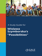 "A Study Guide for Wislawa Szymborska's ""Possibilities"""
