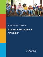 "A Study Guide for Rupert Brooke's ""Peace"""