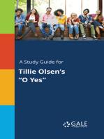 """A Study Guide for Tillie Olsen's """"O Yes"""""""