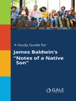 """A Study Guide for James Baldwin's """"Notes of a Native Son"""""""