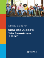 "A Study Guide for Ama Ata Aidoo's ""No Sweetness Here"""
