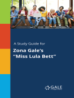 """A Study Guide for Zona Gale's """"Miss Lula Bett"""""""