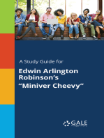 "A Study Guide for Edwin Arlington Robinson's ""Miniver Cheevy"""