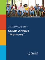 "A Study Guide for Sarah Arvio's ""Memory"""