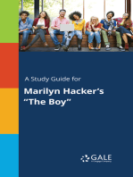 """A Study Guide for Marilyn Hacker's """"The Boy"""""""