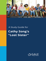 """A Study Guide for Cathy Song's """"Lost Sister"""""""