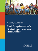 "A Study Guide for Carl Stephenson's ""Leiningen versus the Ants"""