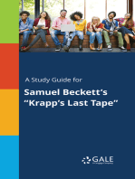 "A Study Guide for Samuel Beckett's ""Krapp's Last Tape"""