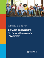 """A Study Guide for Eavan Boland's """"It's a Woman's World"""""""