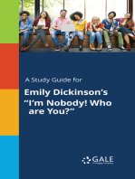 """A Study Guide for Emily Dickinson's """"I'm Nobody! Who are You?"""""""