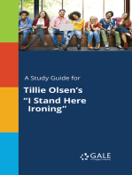 """A Study Guide for Tillie Olsen's """"I Stand Here Ironing"""""""
