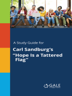 """A Study Guide for Carl Sandburg's """"Hope Is a Tattered Flag"""""""