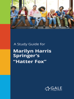 "A Study Guide for Marilyn Harris Springer's ""Hatter Fox"""