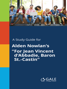 "A Study Guide for Alden Nowlan's ""For Jean Vincent d'Abbadie, Baron St.-Castin"""
