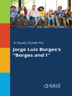 """A Study Guide for Jorge Luis Borges's """"Borges and I"""""""