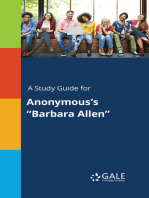 """A Study Guide for Anonymous's """"Barbara Allen"""""""
