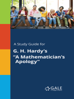 """A Study Guide for G. H. Hardy's """"A Mathematician's Apology"""""""