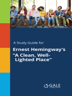 """A Study Guide for Ernest Hemingway's """"A Clean, Well-Lighted Place"""""""