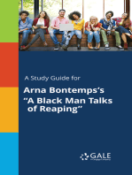 """A Study Guide for Arna Bontemps's """"A Black Man Talks of Reaping"""""""