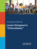 "A Study Guide for Louis Simpson's ""Chocolates"""