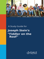 "A Study Guide for Joseph Stein's ""Fiddler on the Roof"""