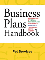 Business Plans Handbook: Pet Services