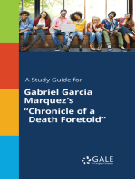 "A Study Guide for Gabriel Garcia Marquez's ""Chronicle of a Death Foretold"""