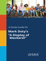 """A Study Guide for Mark Doty's """"A Display of Mackerel"""""""