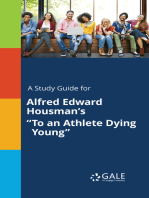 """A Study Guide for Alfred Edward Housman's """"To an Athlete Dying Young"""""""