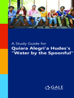 """A Study Guide for Quiara Alegria Hudes's """"Water by the Spoonful"""""""