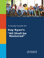 "A Study Guide for Kay Ryan's ""All Shall be Restored"""