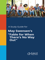 """A Study Guide for May Swensen's """"Fable for When There's No Way Out"""""""