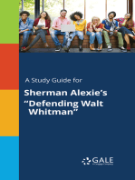 "A Study Guide for Sherman Alexie's ""Defending Walt Whitman"""