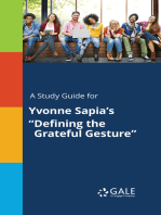 "A Study Guide for Yvonne Sapia's ""Defining the Grateful Gesture"""