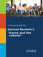 """A Study Guide for Samuel Beckett's """"Dante and the Lobster"""""""
