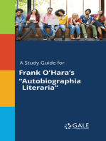 """A Study Guide for Frank O'Hara's """"Autobiographia Literaria"""""""