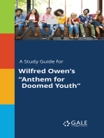 """A Study Guide for Wilfred Owen's """"Anthem for Doomed Youth"""""""