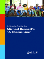 "A Study Guide for Michael Bennett's ""A Chorus Line"""